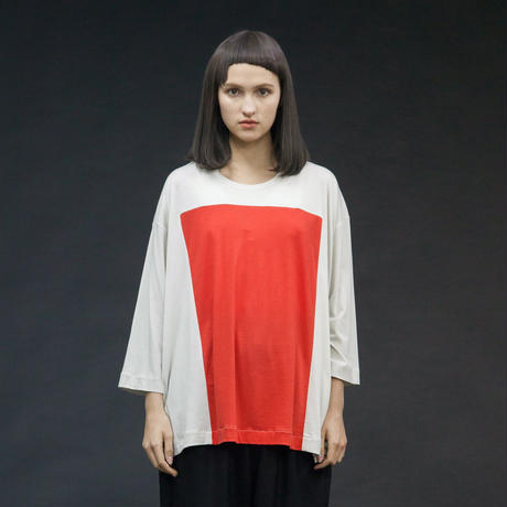 my beautiful landlet   lyocell cotton square 3/4 wide tee   WM17-TP202172