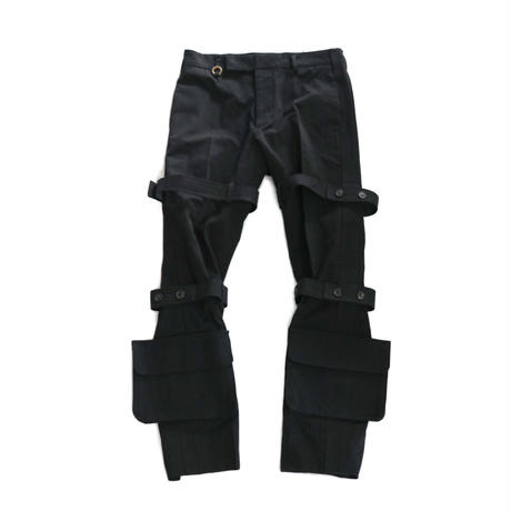 SOSHIOTSUK  NORFORK BONDAGE TROUSERS BLACK