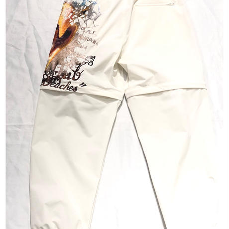 doublet  PRINTED CHAOS EMBROIDERY 2WAY PANTS | 20SS10PT122
