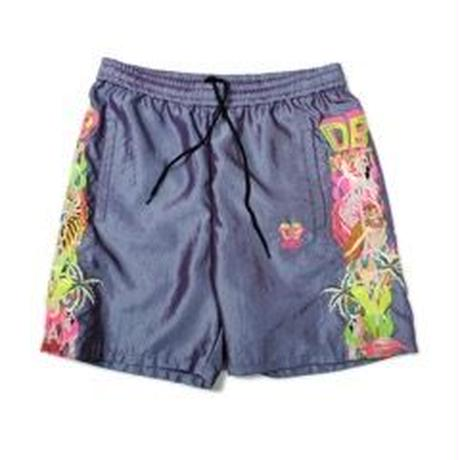 doublet /  CHAOS EMBROIDERY CHAMBRAY SHORT PANTS