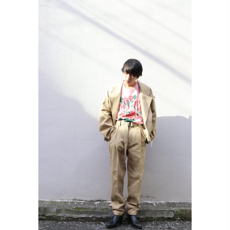 doublet  SILK CHINO WIDE TAPERED TROUSERS 21SS10PT145