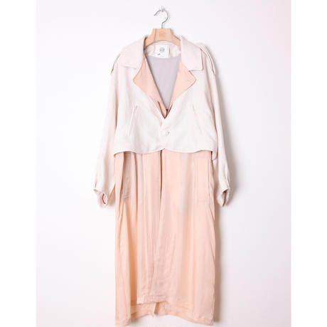 bed side drama Multiple Trench Coat (OFF  WHITE) bsd21SS-01