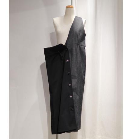 NATSUMI ZAMA   V Jumper Skirt(半身)+ Gather Skirt(半身)