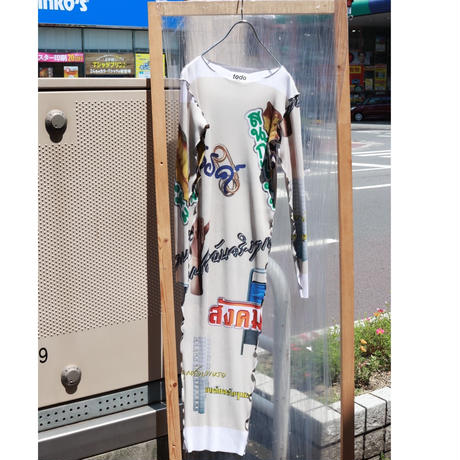 kotohayokozawa Thai graphic dress   TD19A-PD