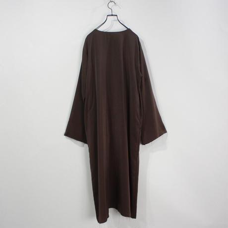 NON TOKYO / 2020A/W MUSLIN TOP DRESS (BROWN×NAVY)