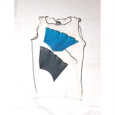 kotohayokozawa Pleats top no sleeve   TDKT-P01