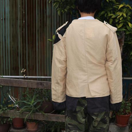 Leh  千層衣 No Collar JKT  LEH-777 Beige