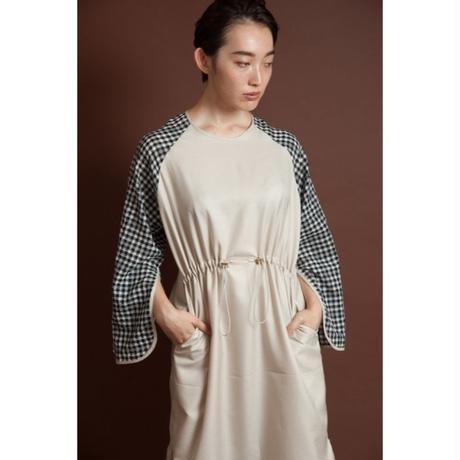 BANSAN Check sleeve oriental dress