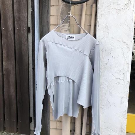 kotohayokozawa  Pleats top long-sleeve    TDKT-P05