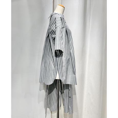 NATSUMI ZAMA | Big Tuck Shirt(半身)+Puff Sleeve Shirt Dress(半身)