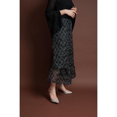 BANSAN  Original embroidery textile skirt