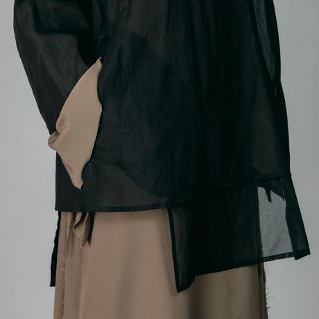 NON TOKYO / 2020A/W MUSLIN TOP DRESS (BEIGE×BLACK)
