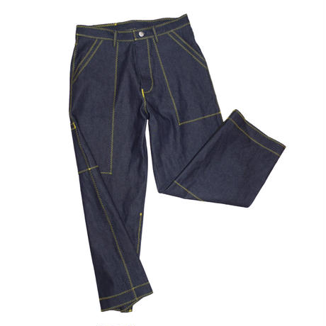 osakentaro zigzag stitch denim pants  no.2004350