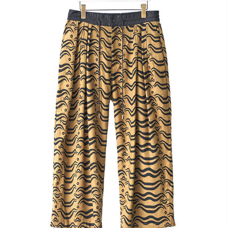 Sasquatchfabrix.  / 18AW-PA9-011 /  ANIMAL PRINT FLANNEL PANTS