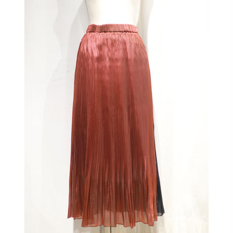 BANSAN 2way Gloss Pleat Skirt BSAW20-FS012