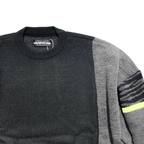 elephant TRIBAL fabrics  /  Mix Big Knit (BLACK)
