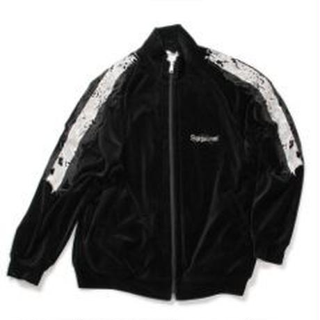 doublet  LINED CHAOS EMBROIDERY TRACK JACKET