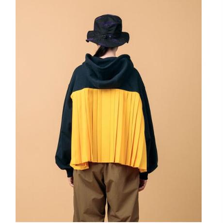 NONTOKYO BACK PLEAT SWEAT PARKA NON-21S-F6 navy yellow
