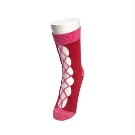 BANSAN  /  special knit socks -RED