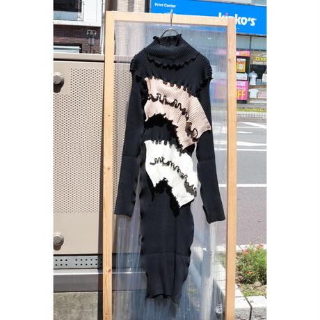kotohayokozawa Rib knit high neck   TD19A-KND01