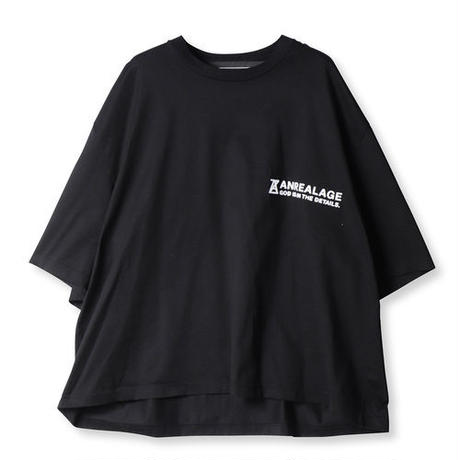 ANREALAGE  ZOOM ONE POINT TEE SHIRTS(BLACK)