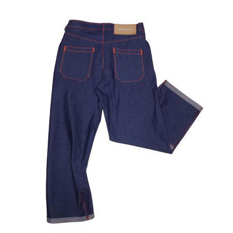 osakentaro zigzag stitch denim pants  no.2004351