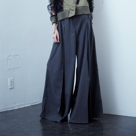 SHIROMA  20-21A/W tuck wide slacks
