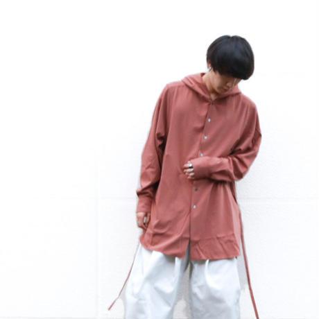 prasthana strings hooded shirt/ red brown PT-1101001