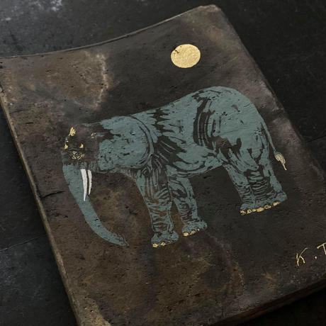 2020Xmas 田中健太郎 vintage¨KAWARA¨ アート「ELEPHANT」