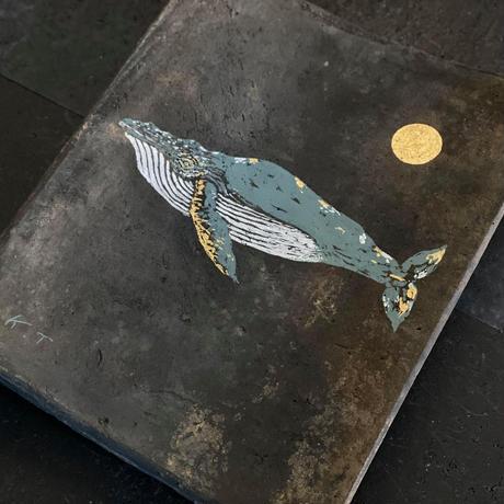 2020Xmas 田中健太郎 vintage¨KAWARA¨ ART「WHALE 1」