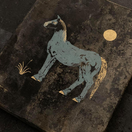 2020Xmas 田中健太郎 vintage¨KAWARA¨ ART「HORSE 2」