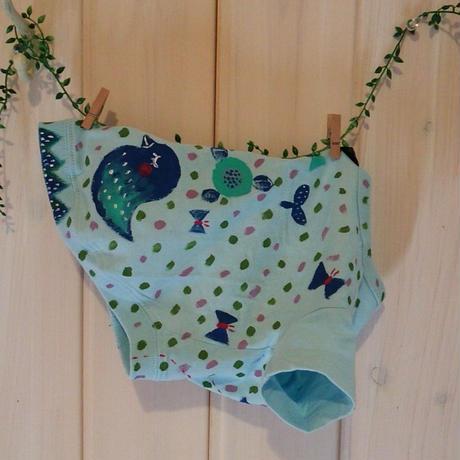 4号☆小鳥ちゃんと双葉とちょうちょの手描きドッグウエアー♪
