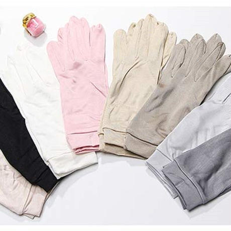 シルク手袋 シルク100% 手触りが良い 紫外線防止 日焼け防止 おやすみ手袋 手荒れ対策 保湿ケア UVカット