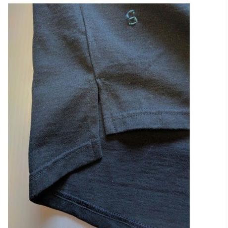 ICTS038-091シロヤ的UネックTシャツ ネイビー 其の二 ポケット付き&エコバック付き
