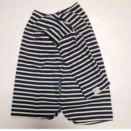 ICTS093-201ビッグポケット付きネイビーボーダーTシャツ
