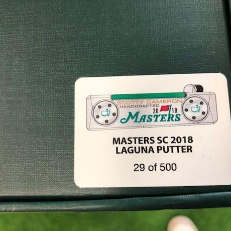 2018年マスターズ限定500本 スコッティキャメロン LAGUNA PUTTER