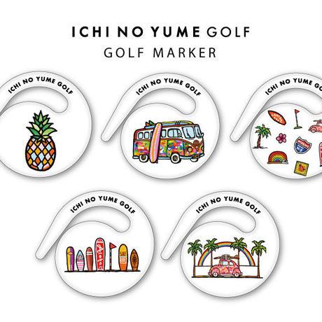 ゴルフマーカー/ハングマーカー ichinoyume Golf