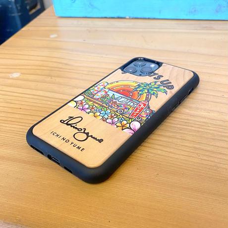 iPhoneシリーズ   対応  ウッドケース〝SURF7S UP〟