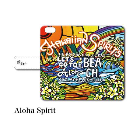"""全スマホ対応 マルチタイプ手帳型カバー """"Aloha Spirit"""""""