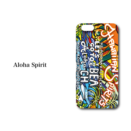 "iPhone SE/5/6/6S/7/8/X/XR 対応 ハードケースカバー ""Aloha Spirit"""