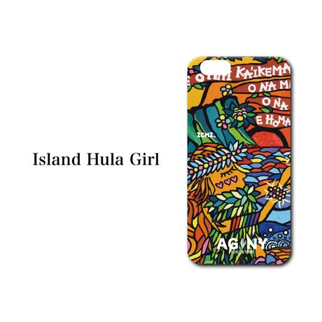 "iPhone SE/5/6/7/8/X/XR 対応 ハードケースカバー ""Island Hula Girl"""