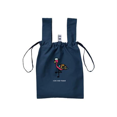 エコバッグ コンビニバッグ コンパクトNavy/Flamingo