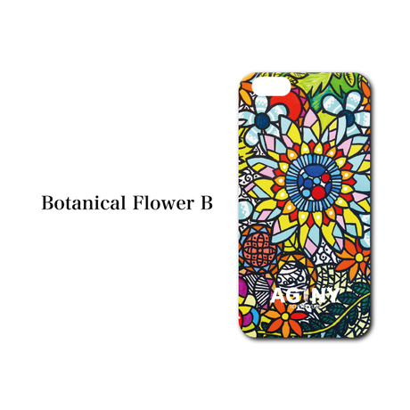 "iPhone 6/7/8/X/XR 対応   ハードケースカバー ""Botanical Flower B"""