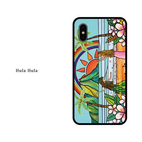 iPhone ガラスハードケース ラウンド型 HulaHula