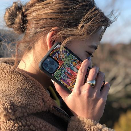 iPhoneシリーズ  対応  ウッドケース  〝Surf Rider Rainbow2〟