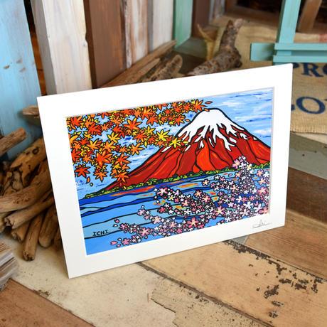 "A4 ArtPrint マットフレーム ""The Story Of FUJIYAMA"""