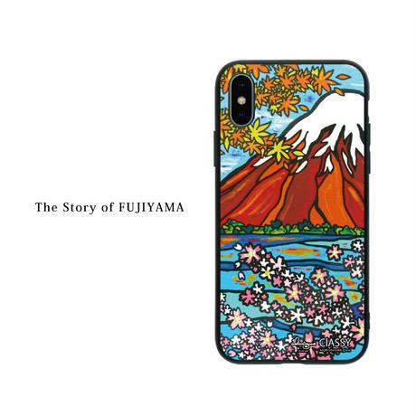 iPhone ガラスハードケース ラウンド型 Fuji