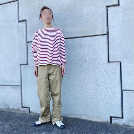 ボーダーパフスリーブTシャツ