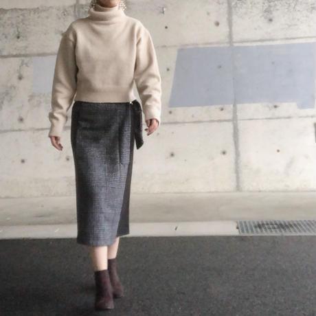 グレンチェックスイッチドスカート