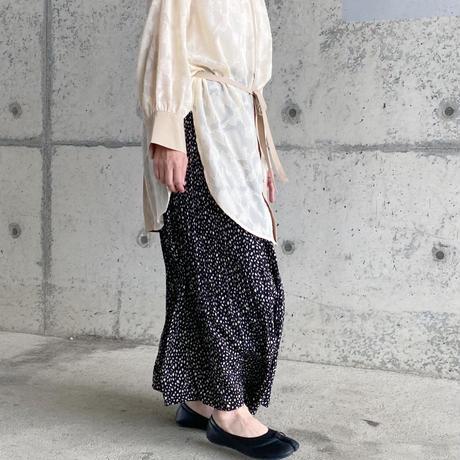 ヒョウ柄プリーツスカート